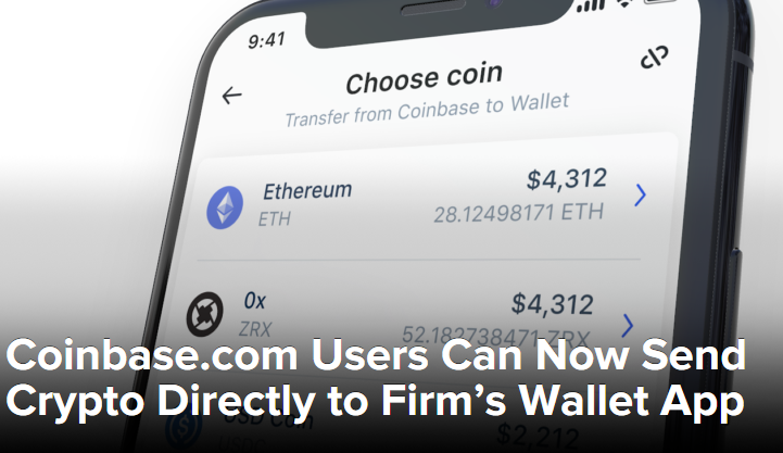 Coinbase com, Links User Accounts on Its Main Platform to Its Wallet