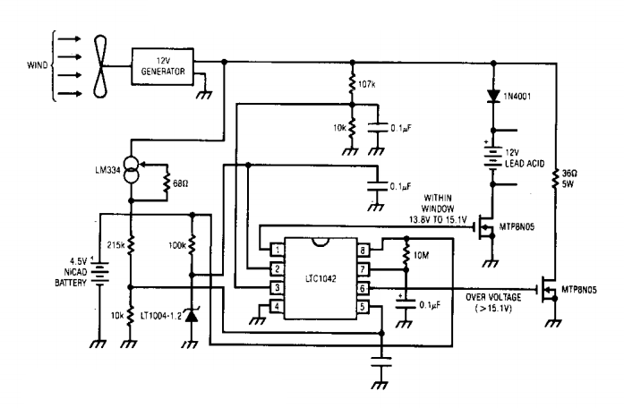 simple wind battery charger circuit diagram