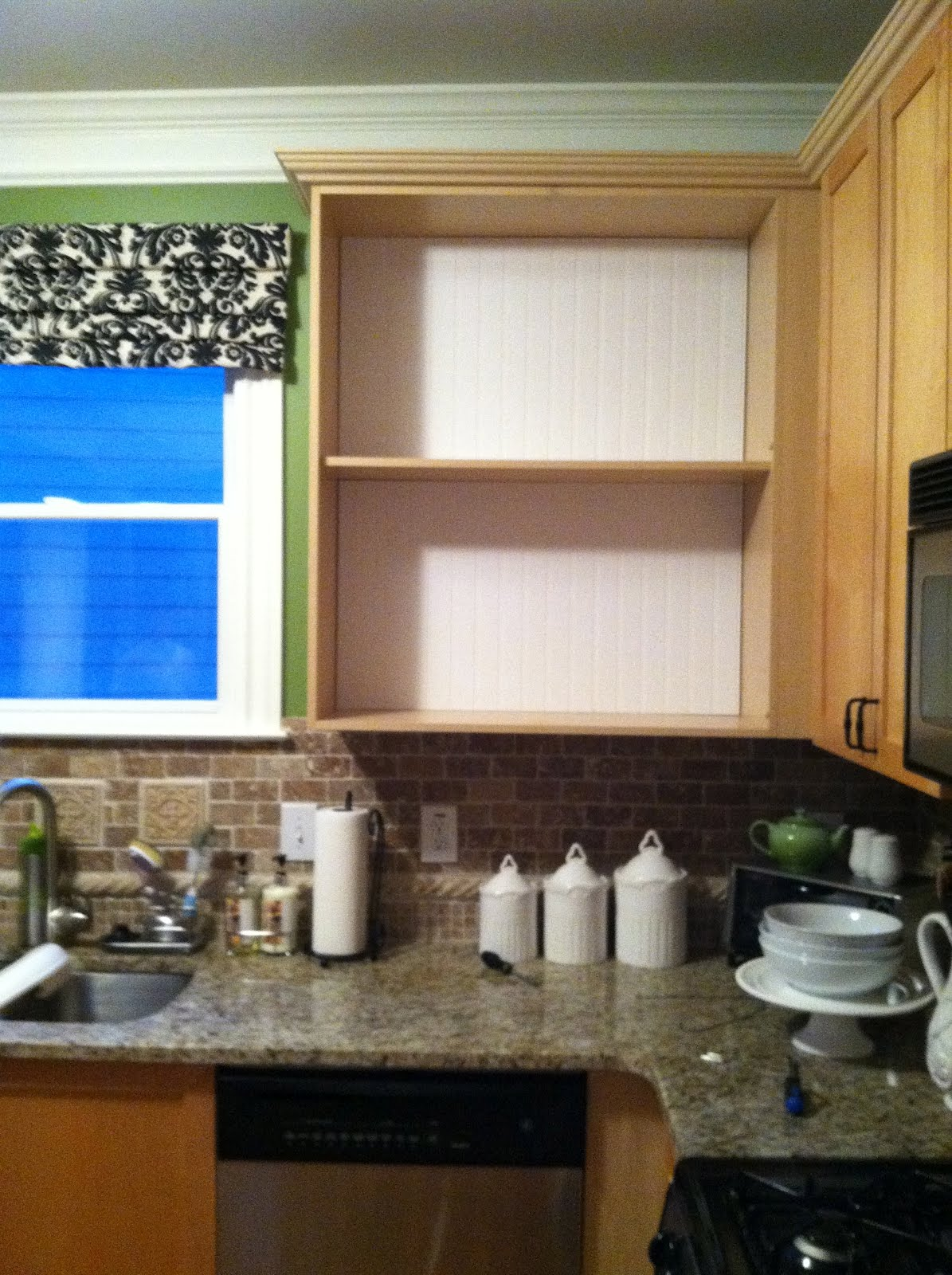 A Charmed Space: Kitchen Cabinet Fix: Beadboard