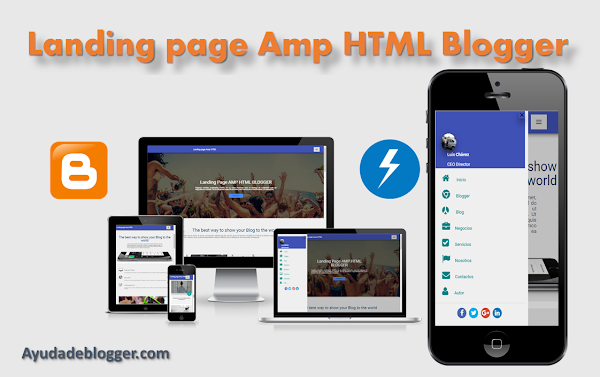 Landing Page Amp Html Seo Responsive Fast Loading Blogger Template