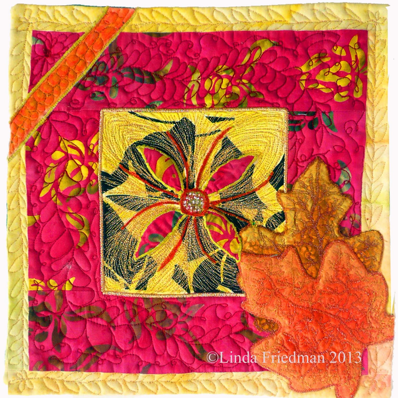 Linda S Art Quilts From Summer To Autumn