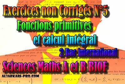 Exercices non Corrigés N°5 Fonctions primitives et calcul ...