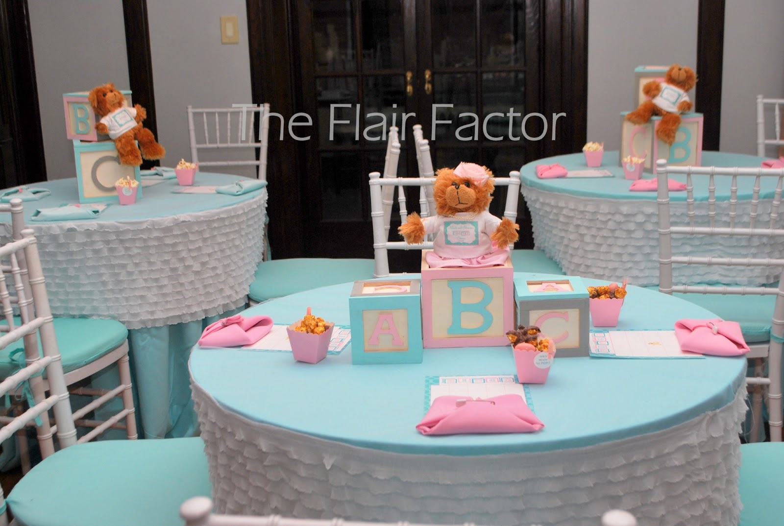 Ruffle Chair Sashes Best Lounge Fête Fanatic: Baby Shower: Building Our Family Block By
