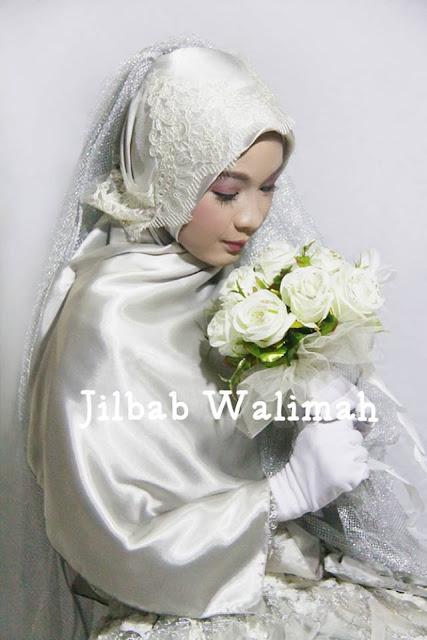 Inspirasi  Hijab Pengantin Muslimah Syari