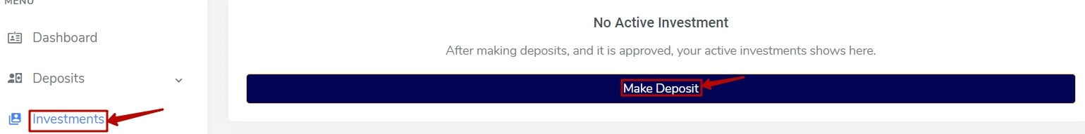 Создание депозита в CryptonFX