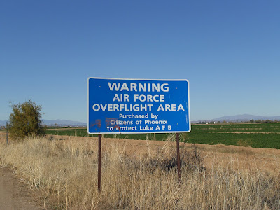 Warning Air Force Overflight Area Sign