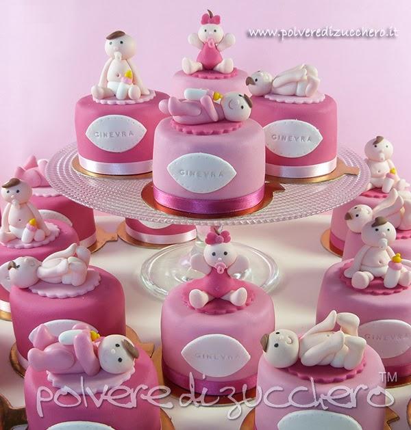 abbastanza Mini cake decorate con neonato: bomboniera per un battesimo di una  GK72