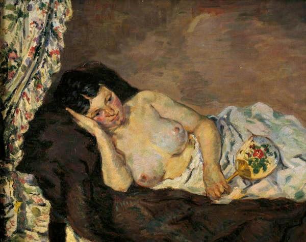 Nua Reclinada - Armand Guillaumin ~ Pintor Impressionista com cores intensas