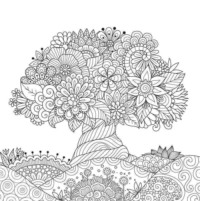 Educación Artística: Árbol para colorear