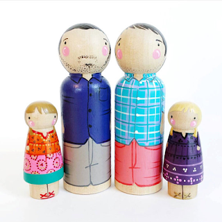 two dads gay family peg doll family portrait