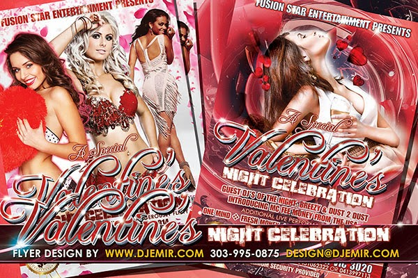 Valentine's Night Celebration Flyer Design Australia