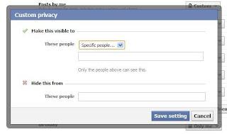 Hide Facebook Status