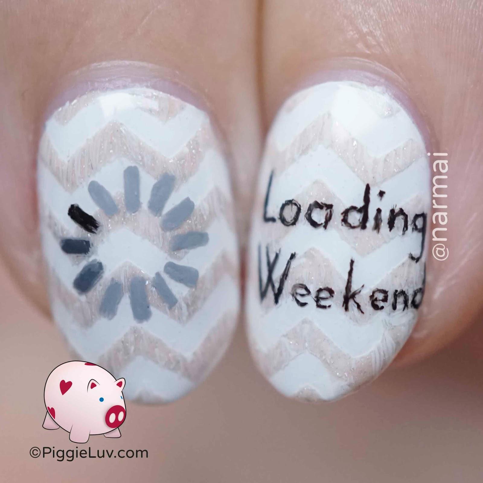 PiggieLuv: Friday nail art