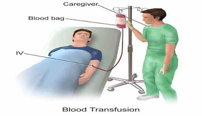 Ilustrasi transfusi darah