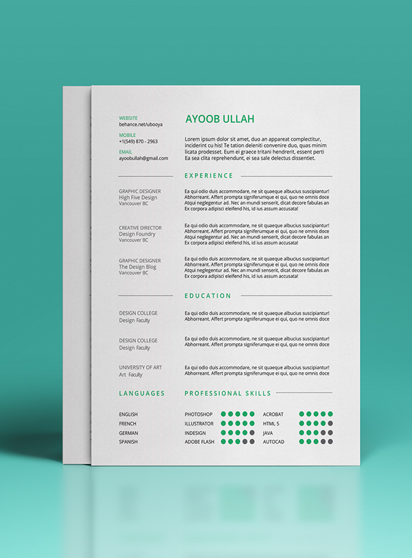 10  template resume  cv  kreatif simple minimalis gratis