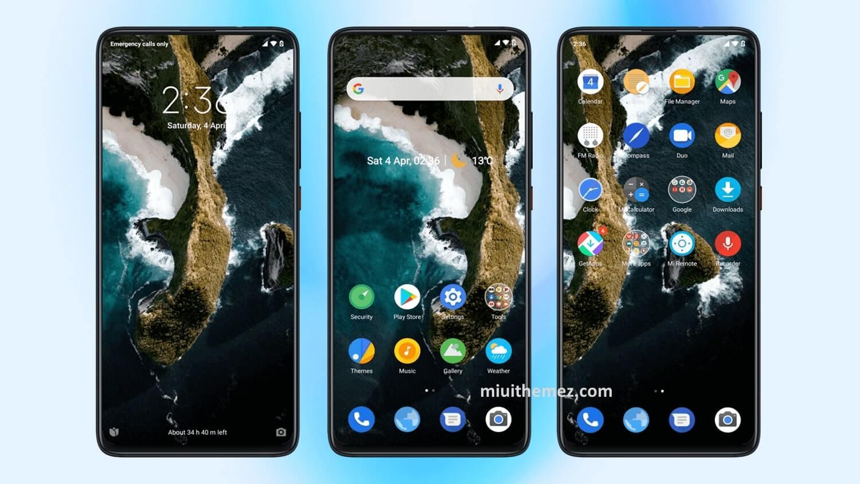 Stock Android OS MIUI 11 Theme