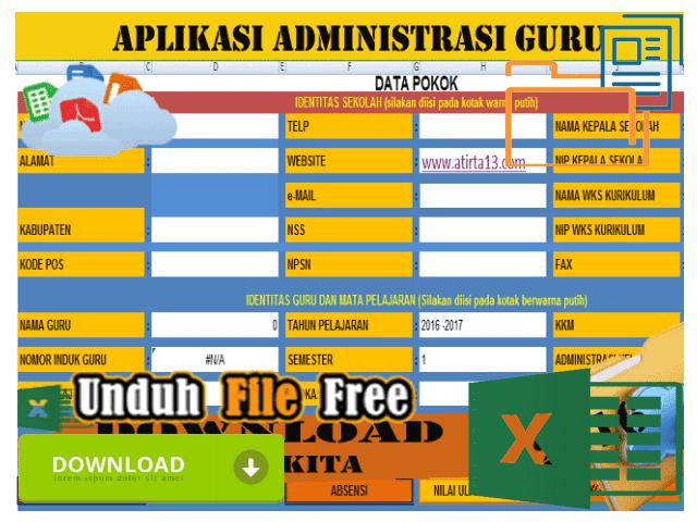 Kumpulan Aplikasi Aplikasi Baru Untuk Administrasi Guru Format Excel