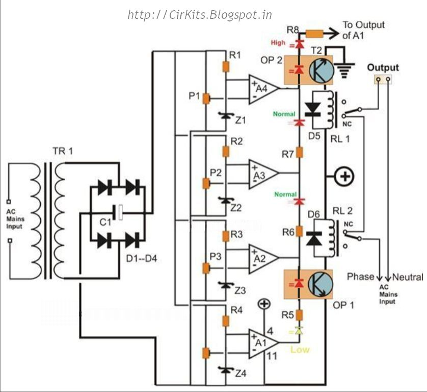 Highly Accurate, Mains High/ Low Voltage Cut Circuit