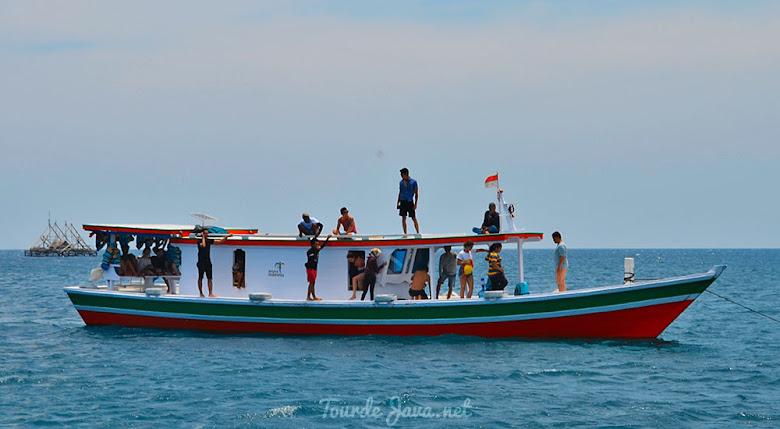 kapal wisata taman nasional ujung kulon