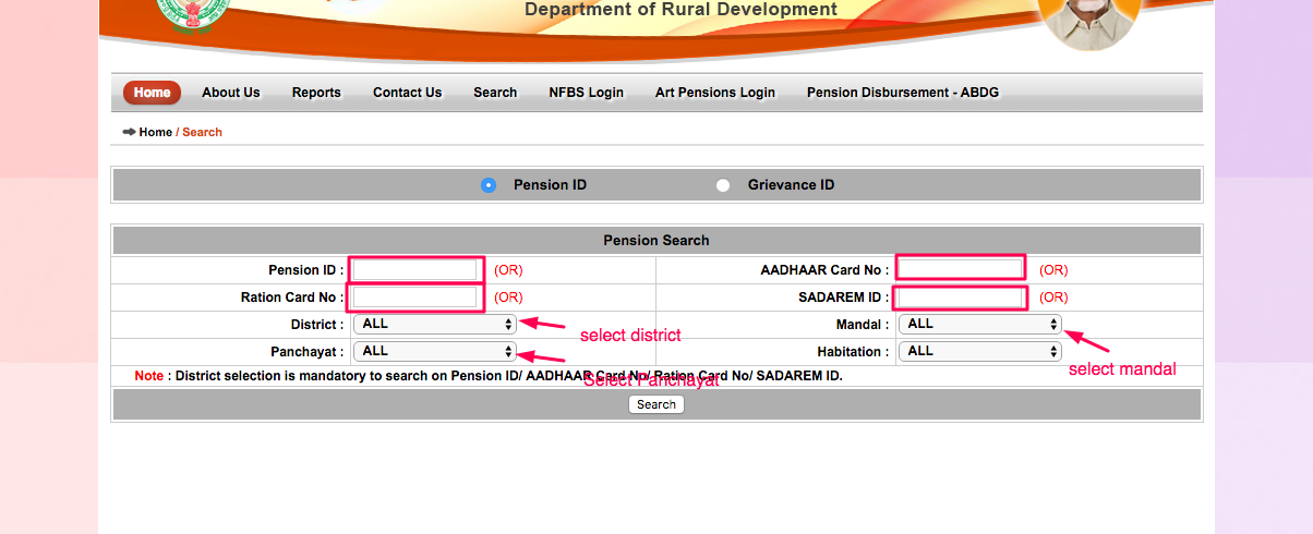 How to apply NTR Bharosa Pensions in Andhra Pradesh