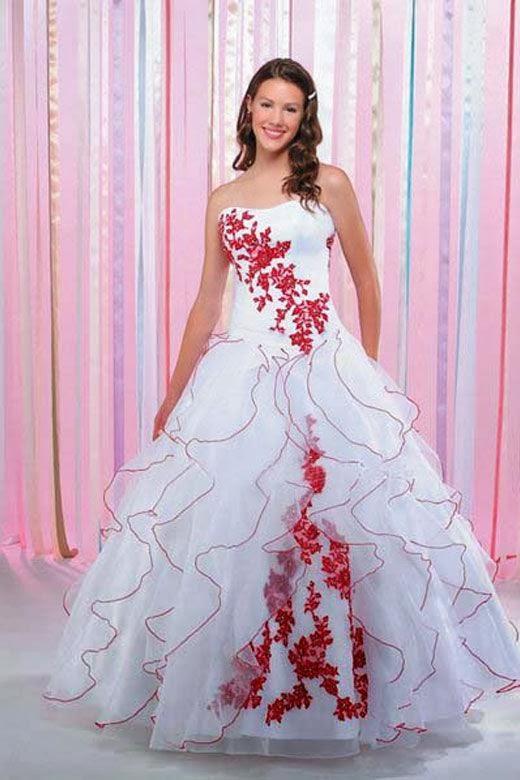 Vestidos de 15 rosas rojas