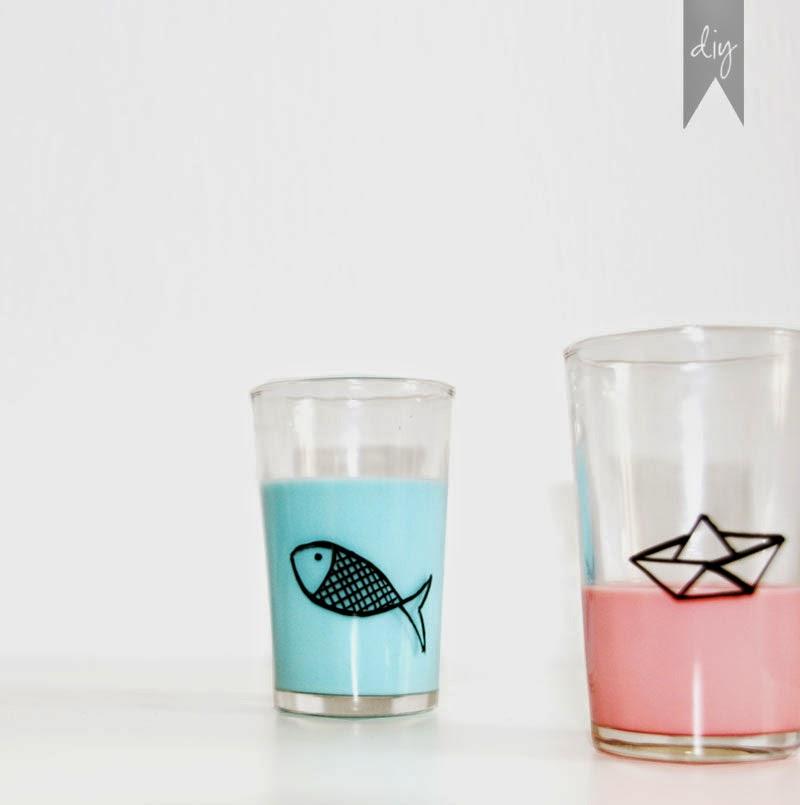 Diy c mo personalizar tus vasos para una mesa de - Como poner fibra de vidrio ...