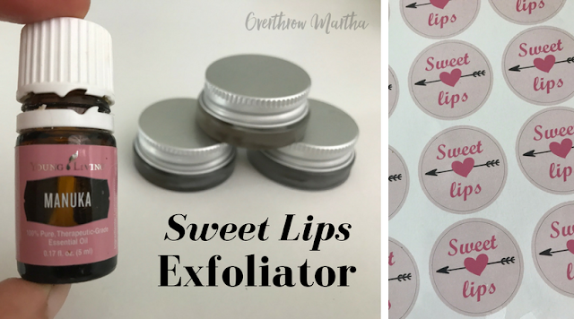 DIY Sweet Lips Sugar Scrub is great to exfoliate your lips using simple ingredients and essential oils