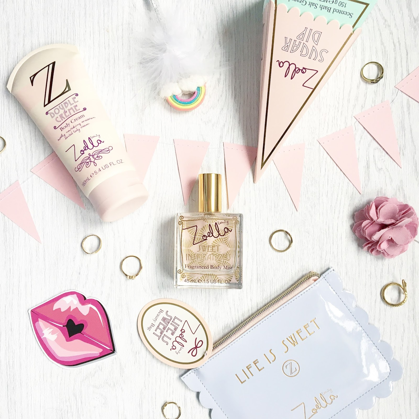Creating the perfect flat lay photo - Zoella Beauty products