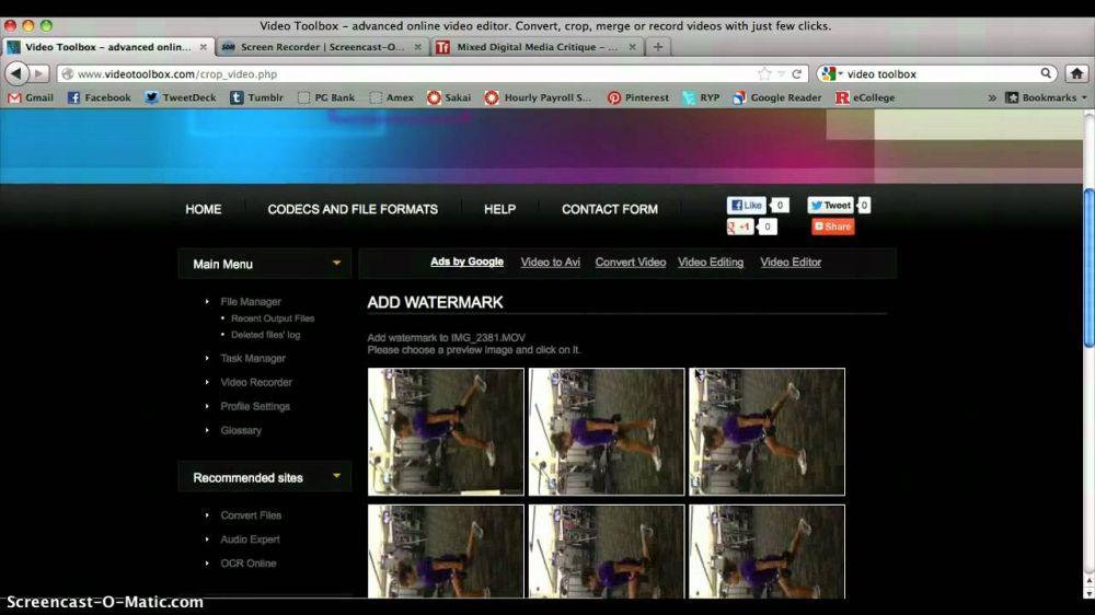 cara menggabungkan video melalui situs aconvert