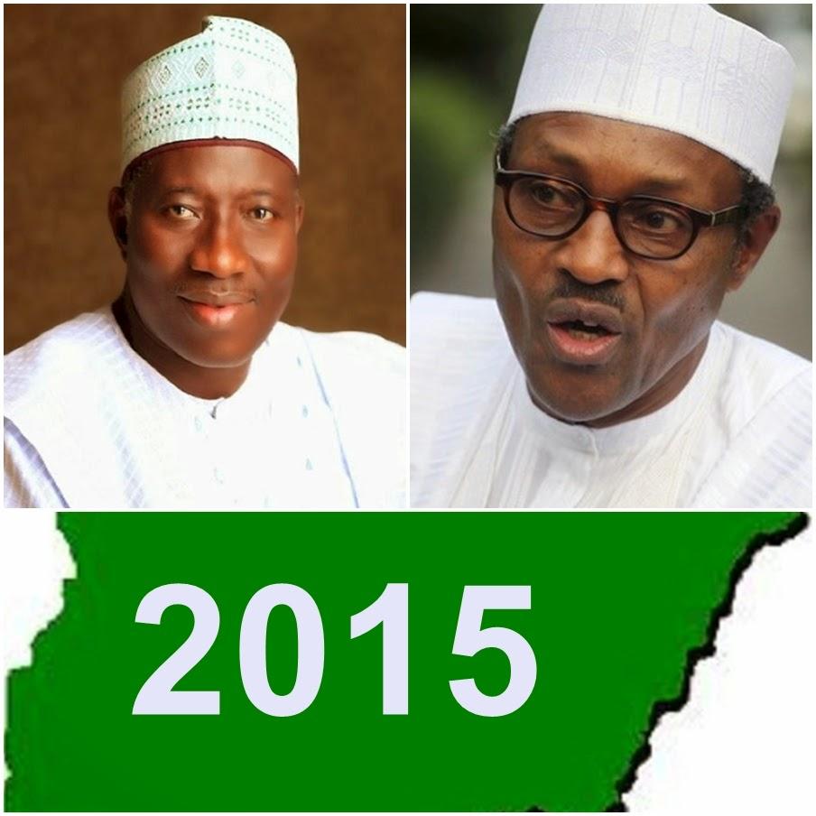 jonathan  buhari 2015 elections