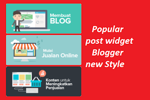 Widget popular post panduim blogger 2018