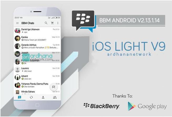 BBM MOD IOS Light