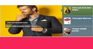 Widget para blogger, Slideshow con Entradas Populares