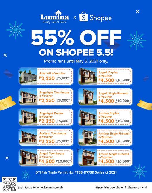 Lumina Homes Shopee E-Voucher
