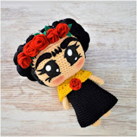 http://amigurumislandia.blogspot.com.ar/2019/05/amigurumi-frida-kahlo-patrigurumis.html