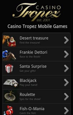 Casino Tropez Screen