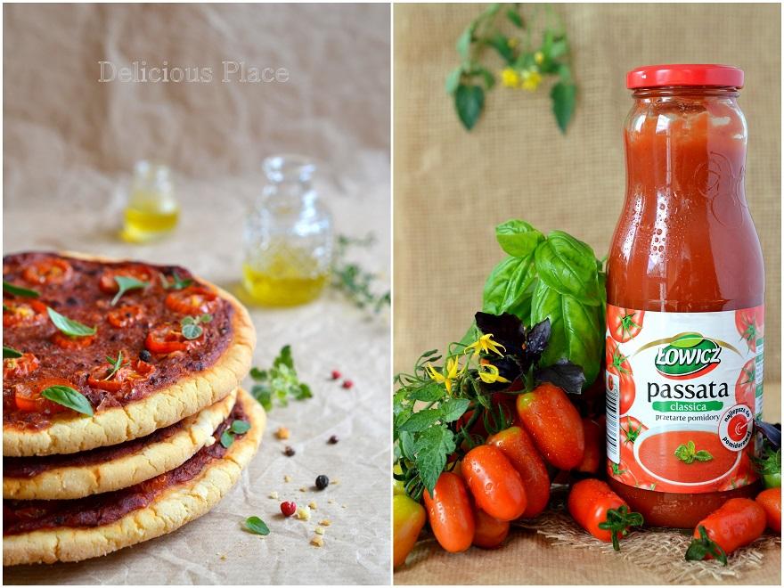 Bezglutenowe mini pizze pomidorowe