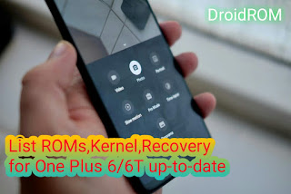 List Custom ROMs,Kernel,Recovery One Plus 6/6T Up-to-date