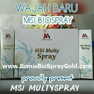 Manfaat Bio Spray MSI, Manfaat Air Bunga Mawar dan Air Ion Perak Bio Spray MSI