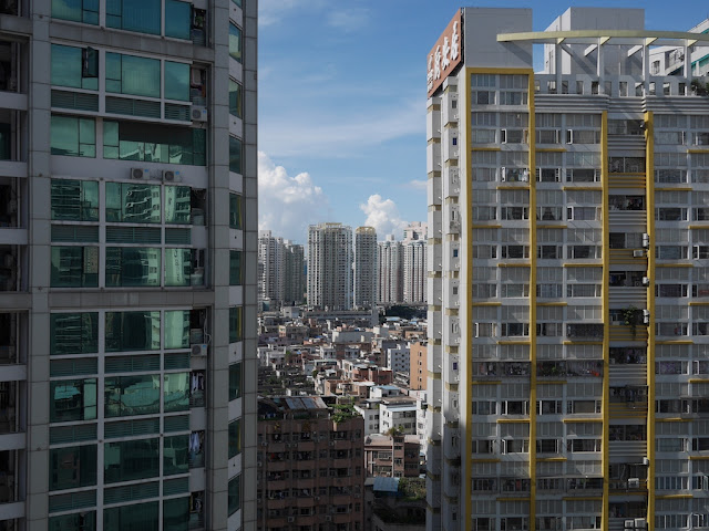 view from a room on a high floor in Shenzhen