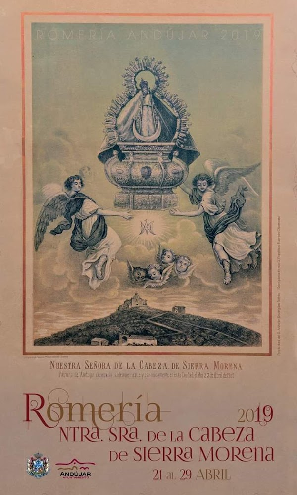 Cartel anunciador de la Romeria Stma. Virgen de la Cabeza 2019