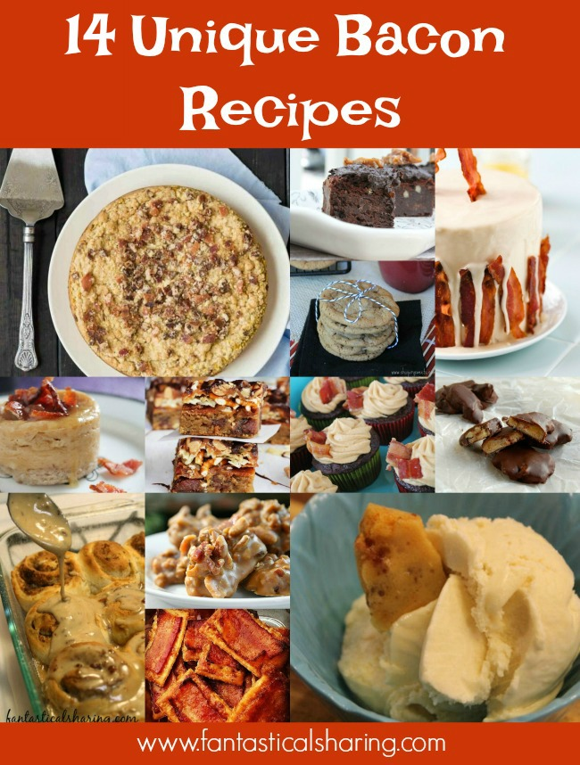 September 2, 2017 is International Bacon Day - Celebrate with these 14 Unique Bacon Recipes #bacon #recipes #roundup