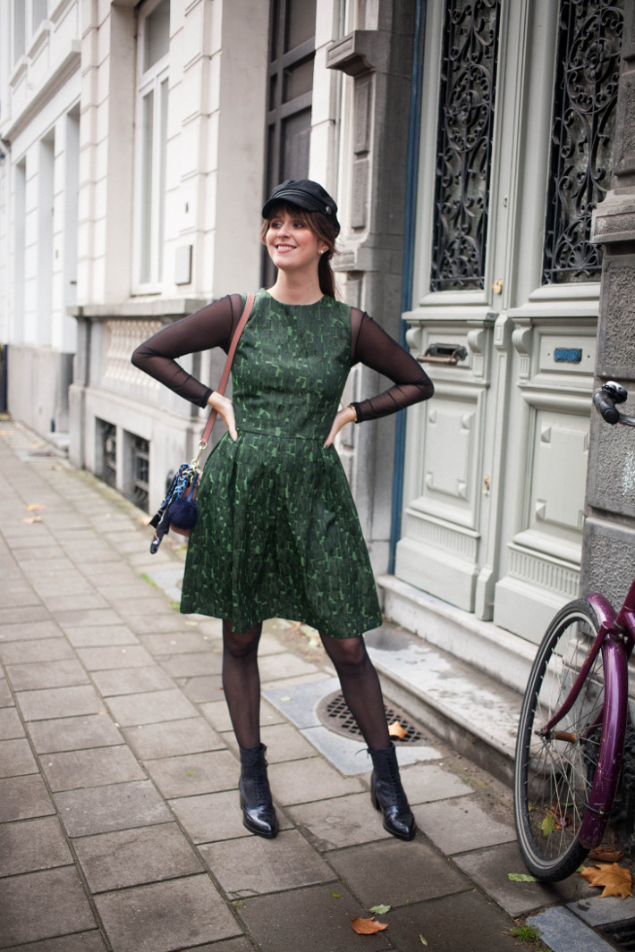 Outfit: Anonyme dress layered over mesh top