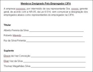 Membro Designado Pelo Empregador Cipa Download