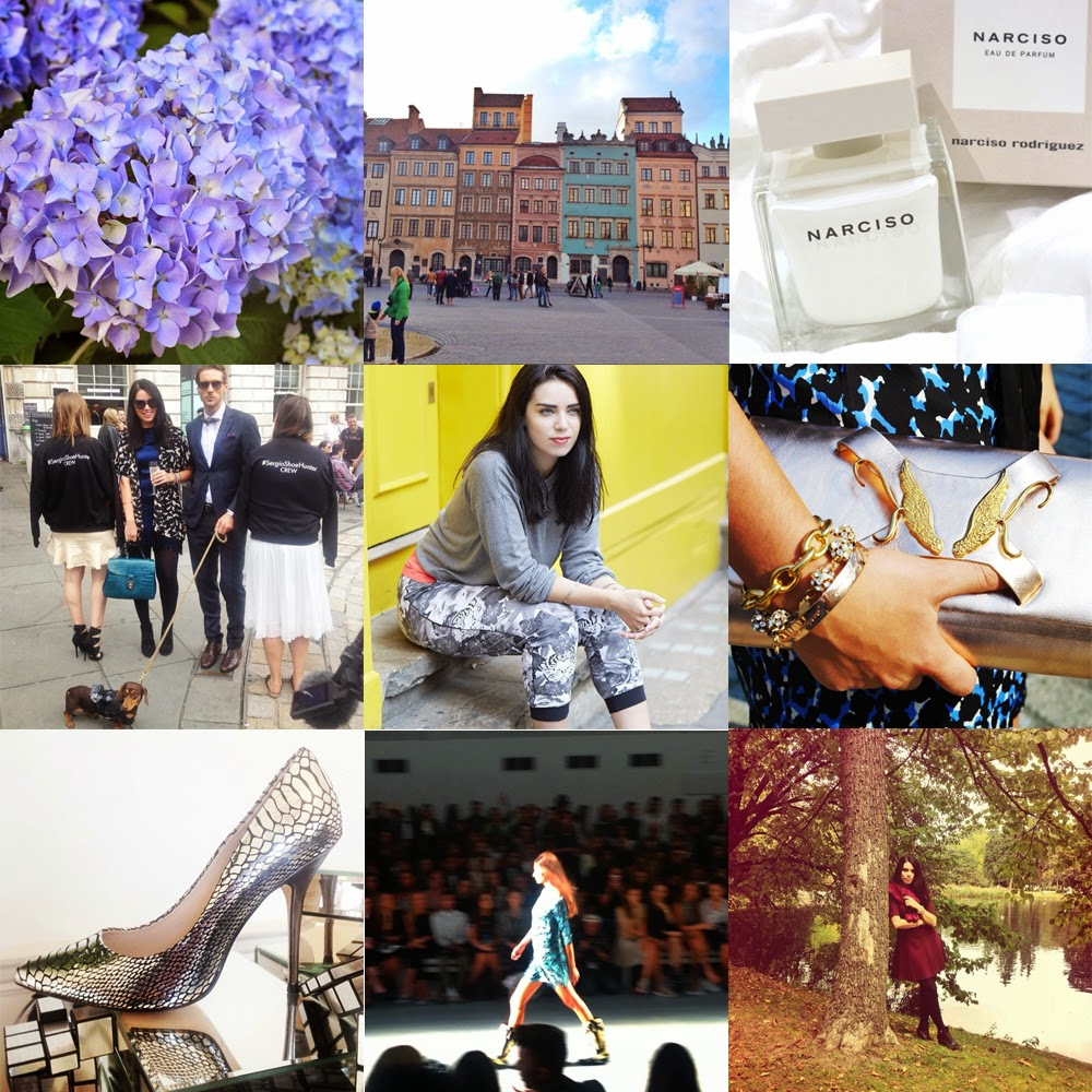 Fashion and lifestyle blogger Emma Louise Layla Instagram photos from London Fashion Week and Warsaw in Poland