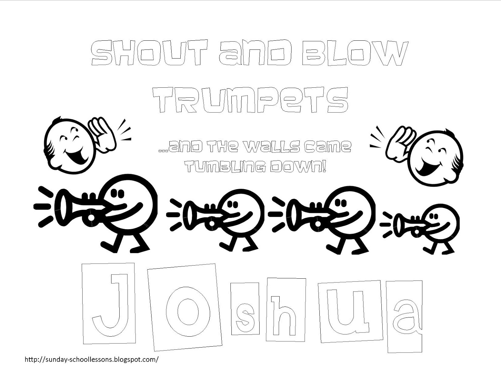 Book of Joshua - Free Coloring Pages for Kids ~ Sunday ...