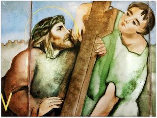 Via Sacra 05 'Simão Cirineu Ajuda Jesus', na Capilla Hotel de Villavicencio