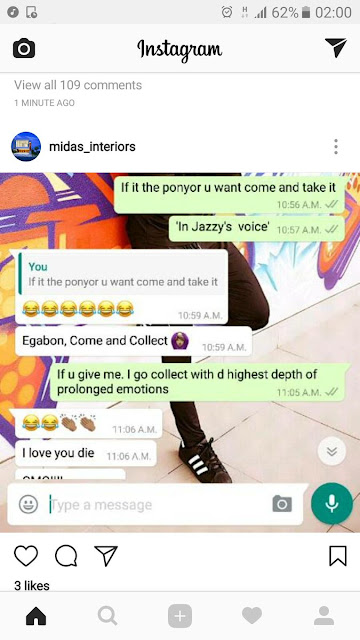 Image result for chats between freda francis and comedian ay