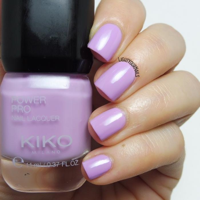 Smalto lacca lilla Kiko Power Pro 107 Candy Orchid lilac creme nail polish #kikomilano #kikocosmetics #kikotrendsetters #kikonails #lightyournails