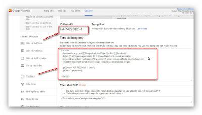 Hướng dẫn thêm Google Analytics cho blogspot (a3)